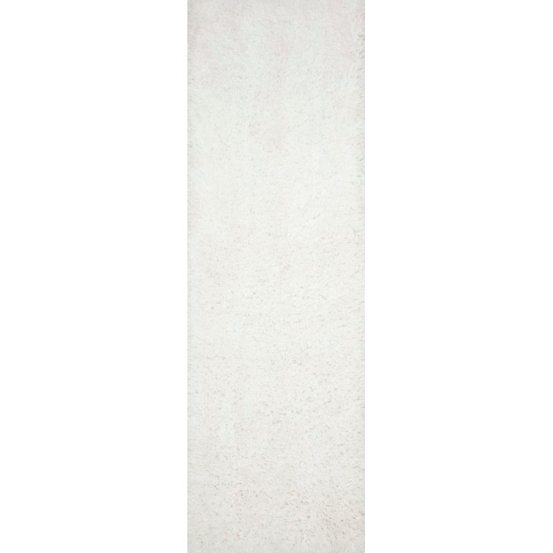 "Loloi II Mila Shag MIL-01 Hand Tufted 7' 9"" x 9' 9"" Rectangle Rug in White (MMILMIL-01WH007999)"