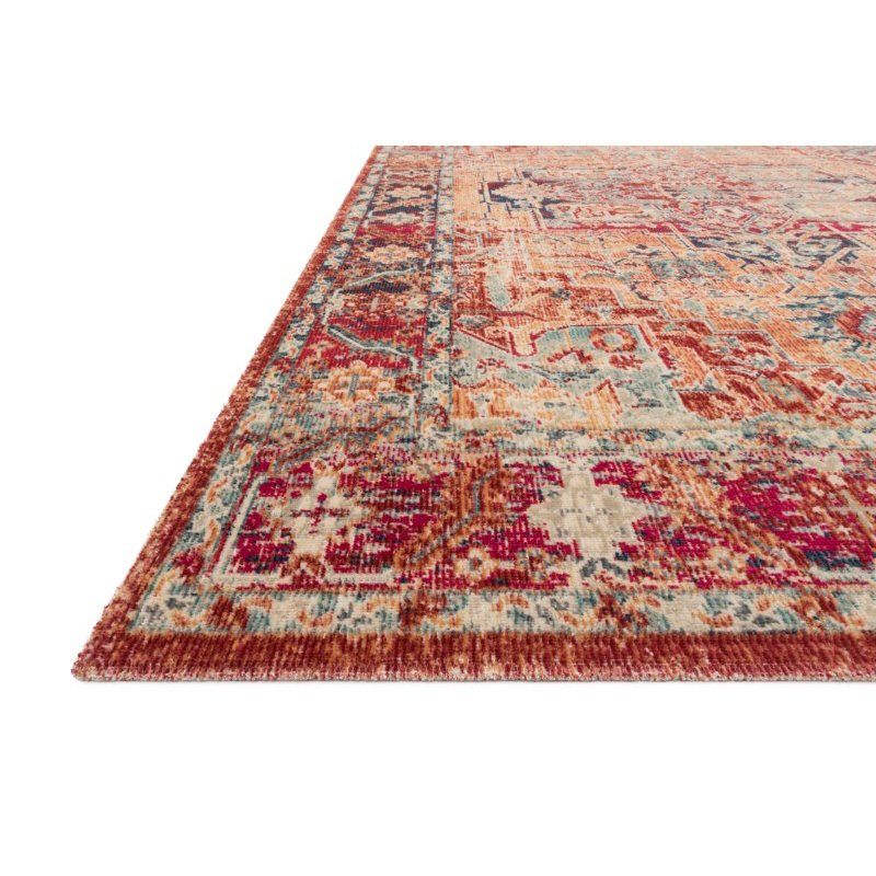 """Loloi II Nour NU-01 Power Loomed 7' 9"""" x 10' 6"""" Rectangle Rug in Lava and Navy (NOURNU-01LXNV79A6)"""