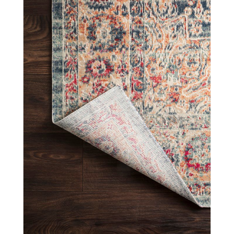 """Loloi II Nour NU-02 Power Loomed 9' x 13' 3"""" Rectangle Rug in Blue and Multi (NOURNU-02BBML90D3)"""