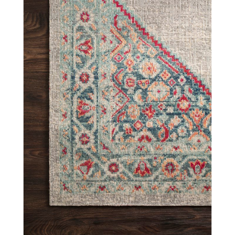 """Loloi II Nour NU-04 Power Loomed 1' 11"""" x 3' Rectangle Rug in Stone and Multi (NOURNU-04SNML1B30)"""