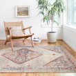 """Loloi II Nour NU-04 Power Loomed 3' 10"""" x 5' 7"""" Rectangle Rug in Stone and Multi (NOURNU-04SNML3A57)"""