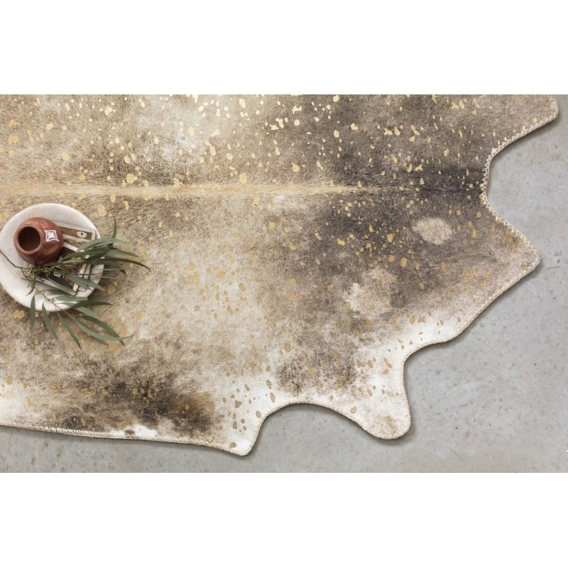 """Loloi II Odessa ODE-01 Contemporary Power Loomed 5' x 6' 6"""" Shaped Rug in Mocha and Sand (ODESODE-01MCSA5066)"""