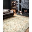"""Loloi II Rosette ROS-01 Traditional Power Loomed 5' x 7' 6"""" Rectangle Rug in Beige and Multi (ROSTROS-01BEML5076)"""
