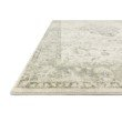 """Loloi II Rosette ROS-02 Traditional Power Loomed 2' 6"""" x 7' 6"""" Runner Rug in Ivory and Silver (ROSTROS-02IVSI2676)"""