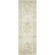 """Loloi II Rosette ROS-02 Traditional Power Loomed 2' 6"""" x 9' 9"""" Rectangle Rug in Ivory and Silver (ROSTROS-02IVSI2699)"""