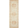"""Loloi II Rosette ROS-03 Traditional Power Loomed 2' 6"""" x 9' 9"""" Rectangle Rug in Ivory and Terracotta (ROSTROS-03IVTC2699)"""