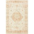 """Loloi II Rosette ROS-03 Traditional Power Loomed 3' 3"""" x 5' 3"""" Rectangle Rug in Ivory and Terracotta (ROSTROS-03IVTC3353)"""