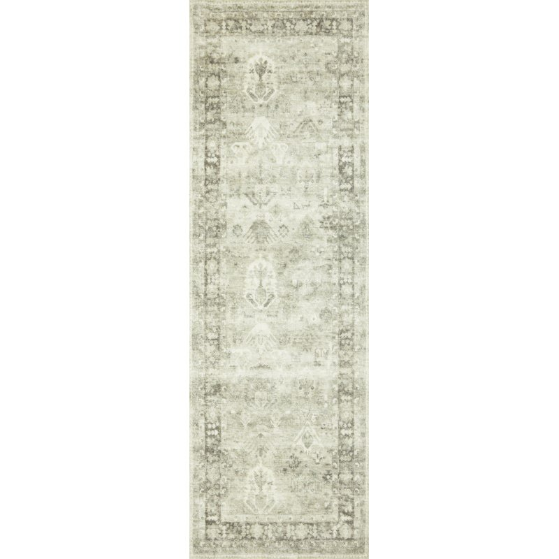 """Loloi II Rosette ROS-04 Traditional Power Loomed 3' 3"""" x 5' 3"""" Rectangle Rug in Steel and Graphite (ROSTROS-04STGT3353)"""