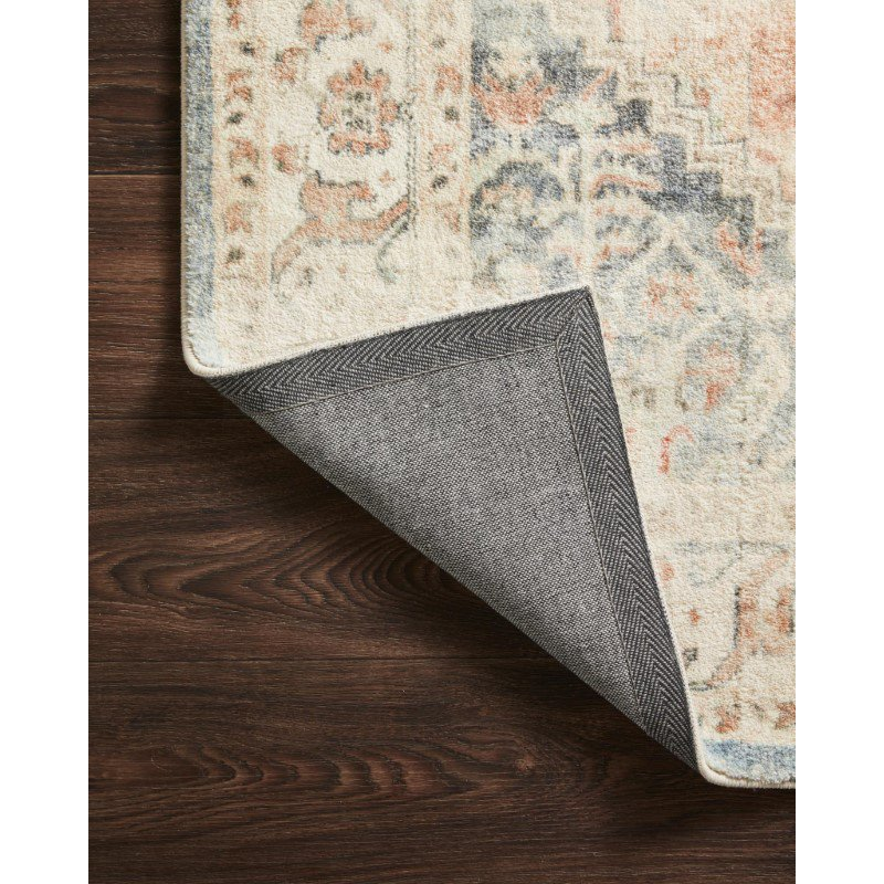 """Loloi II Rosette ROS-06 Traditional Power Loomed 2' 6"""" x 7' 6"""" Runner Rug in Clay and Ivory (ROSTROS-06CGIV2676)"""