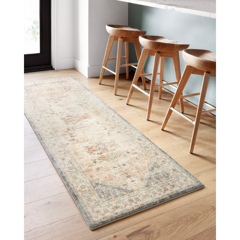 """Loloi II Rosette ROS-06 Traditional Power Loomed 5' x 7' 6"""" Rectangle Rug in Clay and Ivory (ROSTROS-06CGIV5076)"""