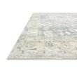 """Loloi II Rosette ROS-07 Traditional Power Loomed 1' 6"""" x 1' 6"""" Sample Swatch Square Rug in Denim and Fog (ROSTROS-07DEFG160S)"""