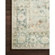 """Loloi II Rosette ROS-08 Traditional Power Loomed 7' 6"""" x 9' 6"""" Rectangle Rug in Teal and Ivory (ROSTROS-08TEIV7696)"""
