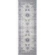 """Loloi II Skye SKY-02 Traditional Power Loomed 2' 3"""" x 3' 9"""" Rectangle Rug in Silver and Grey (SKYESKY-02SIGY2339)"""