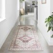 """Loloi II Skye SKY-02 Traditional Power Loomed 3' 6"""" x 5' 6"""" Rectangle Rug in Ivory and Berry (SKYESKY-02IVBY3656)"""