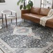 """Loloi II Skye SKY-02 Traditional Power Loomed 7' 6"""" x 9' 6"""" Rectangle Rug in Charcoal and Multi (SKYESKY-02CCML7696)"""