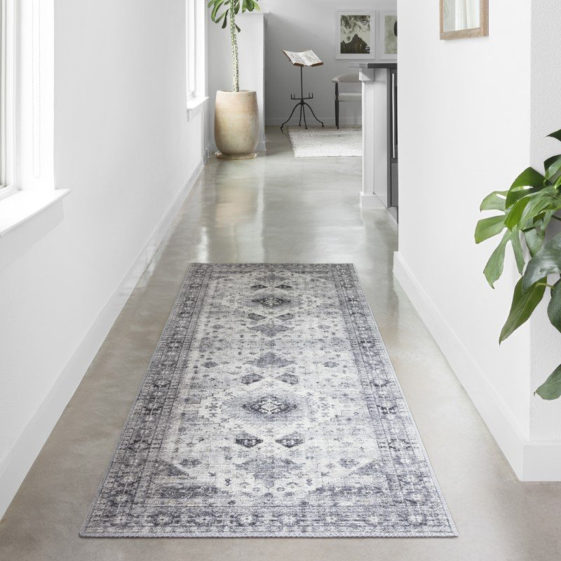Loloi II Skye SKY-02 Traditional Power Loomed 9' x 12' Rectangle Rug in Silver and Grey (SKYESKY-02SIGY90C0)