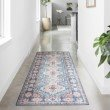 """Loloi II Skye SKY-03 Traditional Power Loomed 1' 6"""" x 1' 6"""" Sample Square Rug in Turquoise and Terracotta (SKYESKY-03TQTC160S)"""