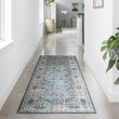 Loloi II Skye SKY-03 Traditional Power Loomed 9' x 12' Rectangle Rug in Denim and Natural (SKYESKY-03DENA90C0)