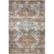 """Loloi II Skye SKY-06 Traditional Power Loomed 2' 3"""" x 3' 9"""" Rectangle Rug in Apricot and Mist (SKYESKY-06APMI2339)"""