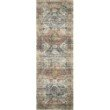 """Loloi II Skye SKY-06 Traditional Power Loomed 3' 6"""" x 5' 6"""" Rectangle Rug in Apricot and Mist (SKYESKY-06APMI3656)"""