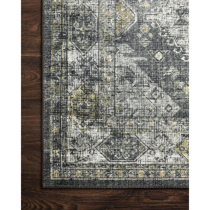 """Loloi II Skye SKY-09 Traditional Power Loomed 5' x 7' 6"""" Rectangle Rug in Graphite and Silver (SKYESKY-09GTSI5076)"""