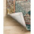 """Loloi II Spectrum SPE-01 Contemporary Hooked 2' 3"""" x 3' 9"""" Rectangle Rug in Lagoon and Spice (SPECSPE-01LJSQ2339)"""