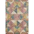 """Loloi II Spectrum SPE-01 Contemporary Hooked 2' 3"""" x 3' 9"""" Rectangle Rug in Silver and Fiesta (SPECSPE-01SIFD2339)"""