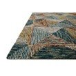 "Loloi II Spectrum SPE-01 Contemporary Hooked 2' 6"" x 7' 6"" Runner Rug in Lagoon and Spice (SPECSPE-01LJSQ2676)"