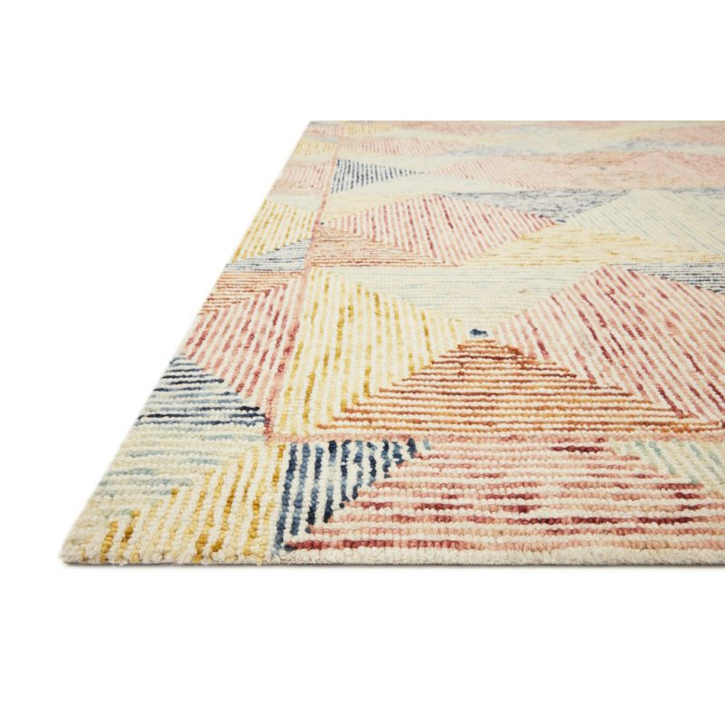 """Loloi II Spectrum SPE-01 Contemporary Hooked 2' 6"""" x 9' 9"""" Rectangle Rug in Ivory and Multi (SPECSPE-01IVML2699)"""