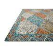 "Loloi II Spectrum SPE-02 Contemporary Hooked 2' 3"" x 3' 9"" Rectangle Rug in Sunset and Ocean (SPECSPE-02SSOC2339)"