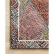 """Loloi II Spectrum SPE-02 Contemporary Hooked 5' x 7' 6"""" Rectangle Rug in Turquoise and Fiesta (SPECSPE-02TQFD5076)"""