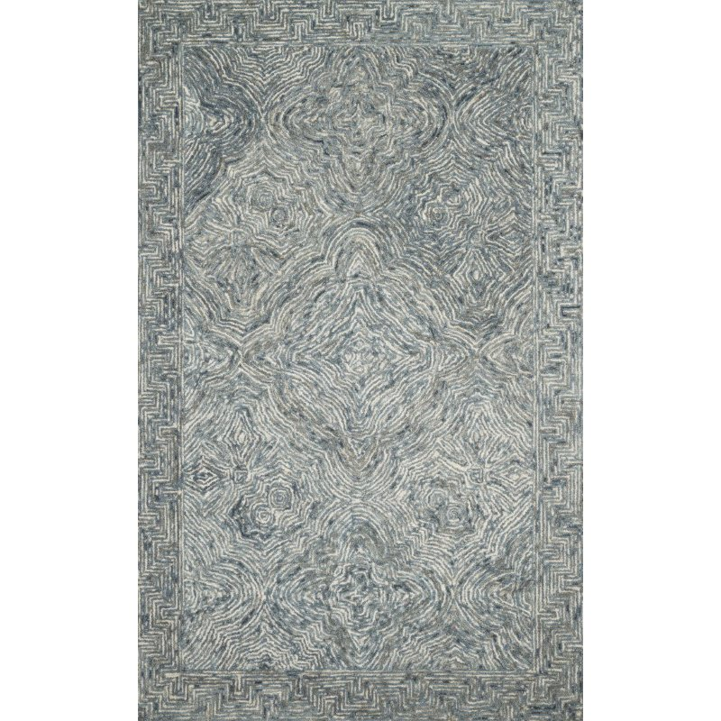"""Loloi II Ziva ZV-04 Contemporary Hand Tufted 3' 6"""" x 5' 6"""" Rectangle Rug in Denim (ZIVAZV-04DE003656)"""