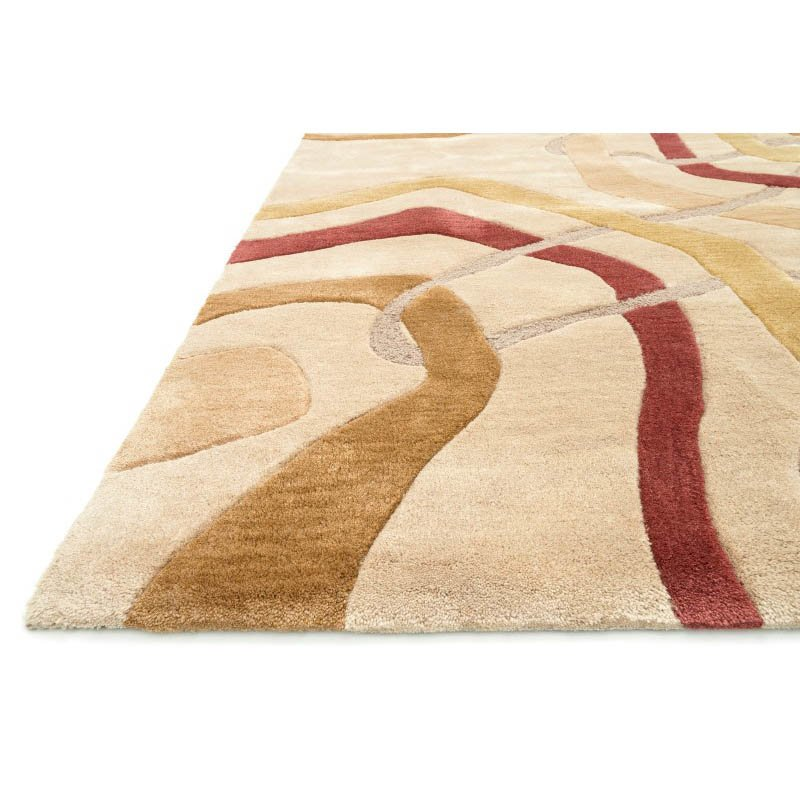 """Loloi Abacus AC-06 Rug 7' 10"""" Light Gold Round"""