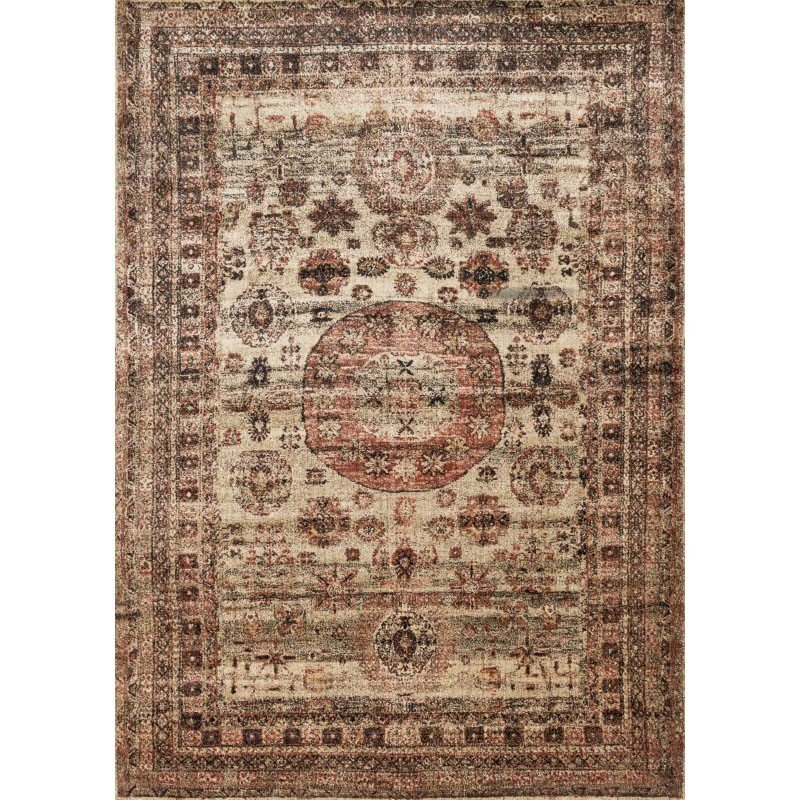 """Loloi Anastasia AF-03 Rug 2' 7"""" x 12' Champagne and Multi Runner"""