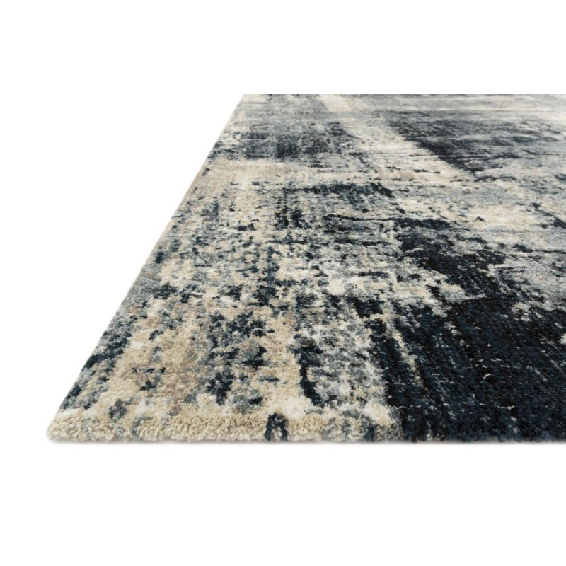 """Loloi Augustus AGS-01 Contemporary Power Loomed 3' 7"""" x 5' 7"""" Rectangle Rug in Navy and Dove (AUGSAGS-01NVDV3757)"""