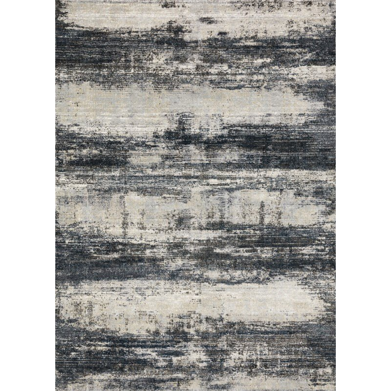 """Loloi Augustus AGS-07 Contemporary Power Loomed 2' 7"""" x 10' 10"""" Runner Rug in Navy and Stone (AUGSAGS-07NVSN27AA)"""