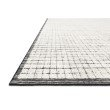 "Loloi Beverly BEV-01 Contemporary Hand Loomed 2' 6"" x 8' 6"" Runner Rug in Ivory and Black (BEVEBEV-01IVBL2686)"