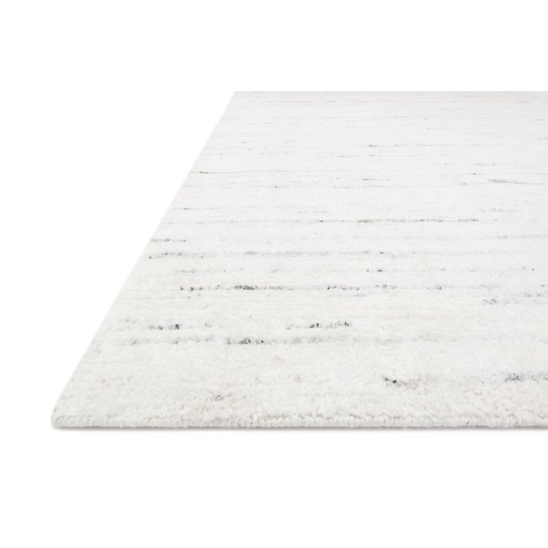 """Loloi Brandt BRA-01 Hand Loomed 5' 6"""" x 8' 6"""" Rectangle Rug in Ivory and Stone (BRANBRA-01IVSN5686)"""