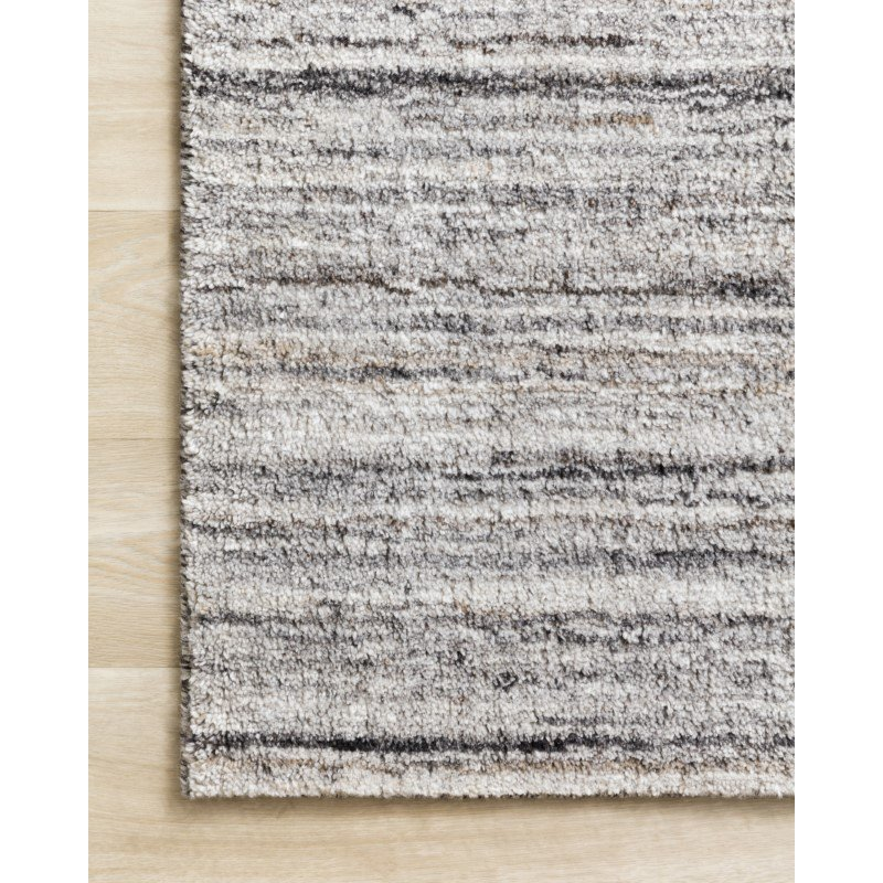 """Loloi Brandt BRA-01 Hand Loomed 5' 6"""" x 8' 6"""" Rectangle Rug in Silver and Stone (BRANBRA-01SISN5686)"""