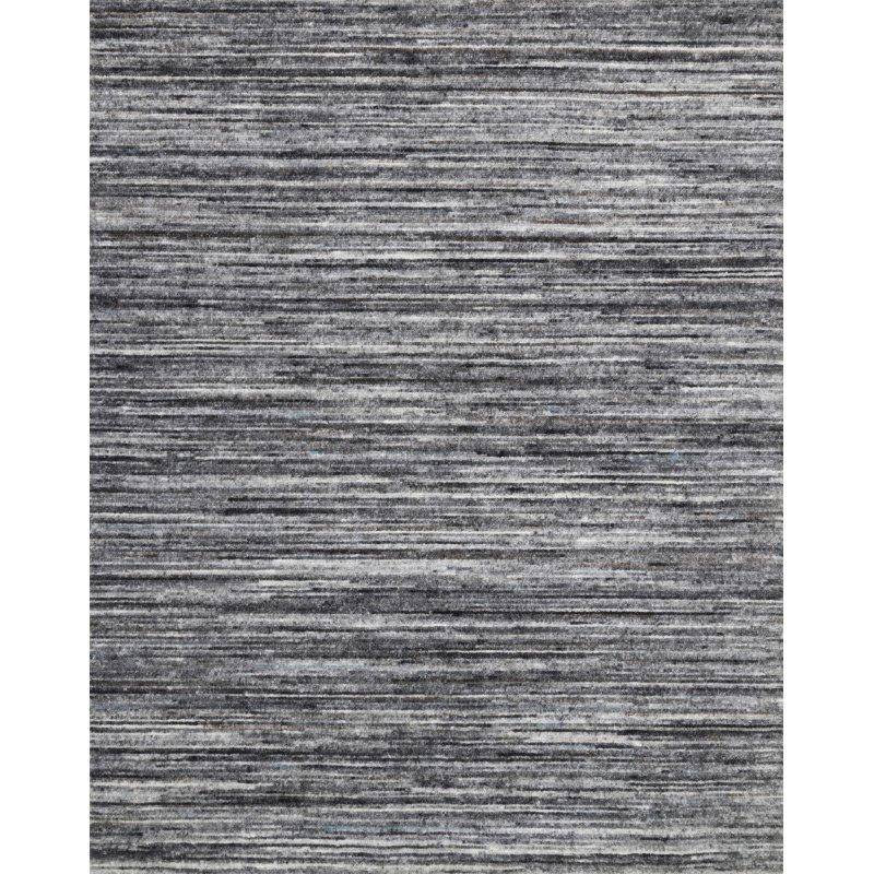 "Loloi Brandt BRA-01 Hand Loomed 7' 9"" x 9' 9"" Rectangle Rug in Grey and Slate (BRANBRA-01GYSL7999)"