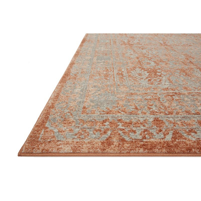 """Loloi Century CQ-09 2' 7"""" x 4' Rectangle Rug in Terracotta and Sand (CENTCQ-09TCSA2740)"""