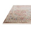 """Loloi Claire CLE-01 Traditional Power Loomed 3' 7"""" x 5' 1"""" Rectangle Rug in Red and Ivory (CLAECLE-01REIV3751)"""
