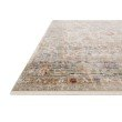 """Loloi Claire CLE-02 Traditional Power Loomed 5' 3"""" x 7' 9"""" Rectangle Rug in Ivory and Ocean (CLAECLE-02IVOC5379)"""