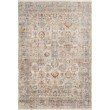 "Loloi Claire CLE-02 Traditional Power Loomed 9' 6"" x 13' Rectangle Rug in Ivory and Ocean (CLAECLE-02IVOC96D0)"