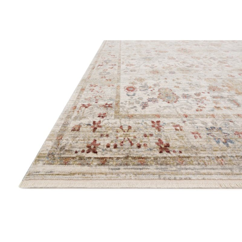 "Loloi Claire CLE-05 Traditional Power Loomed 9' 6"" x 13' Rectangle Rug in Ivory and Multi (CLAECLE-05IVML96D0)"