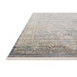 """Loloi Claire CLE-06 Traditional Power Loomed 1' 6"""" x 1' 6"""" Sample Swatch Square Rug in Blue and Sunset (CLAECLE-06BBSS160S)"""