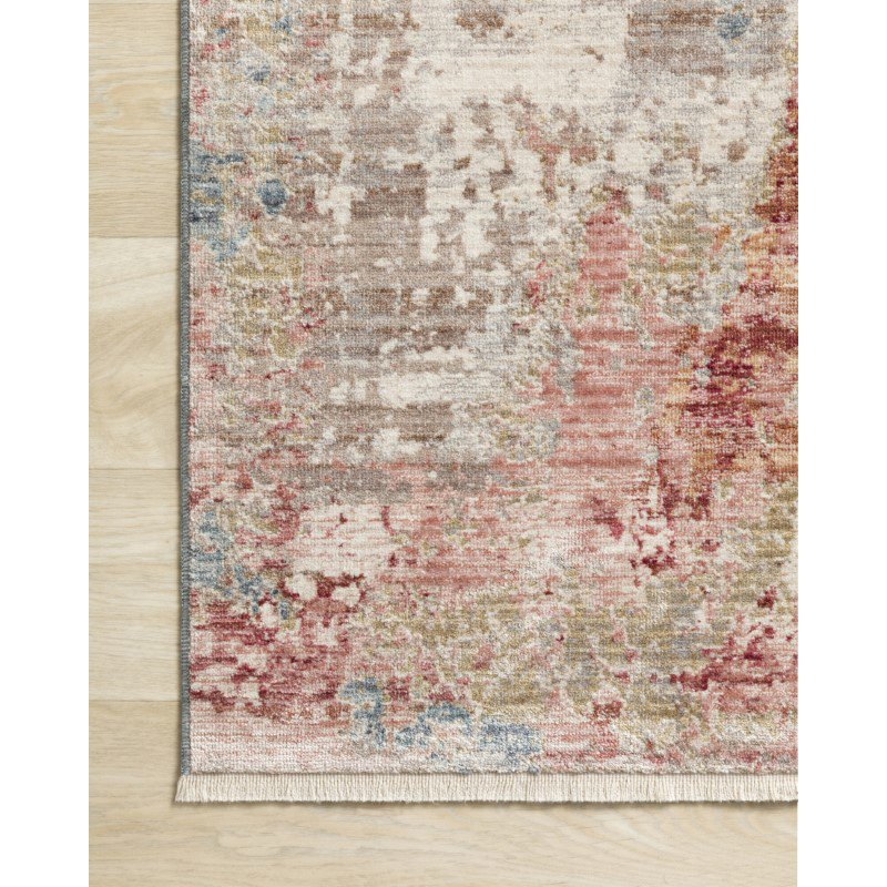 """Loloi Claire CLE-07 Traditional Power Loomed 2' 7"""" x 8' Runner Rug in Grey and Multi (CLAECLE-07GYML2780)"""