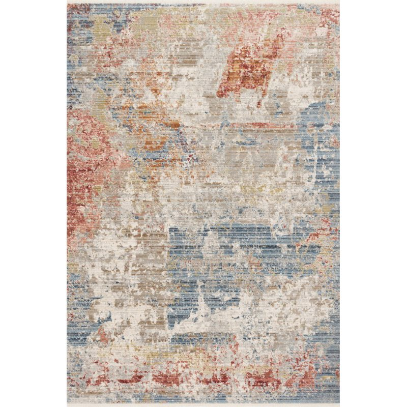 """Loloi Claire CLE-07 Traditional Power Loomed 2' 7"""" x 9' 6"""" Runner Rug in Grey and Multi (CLAECLE-07GYML2796)"""