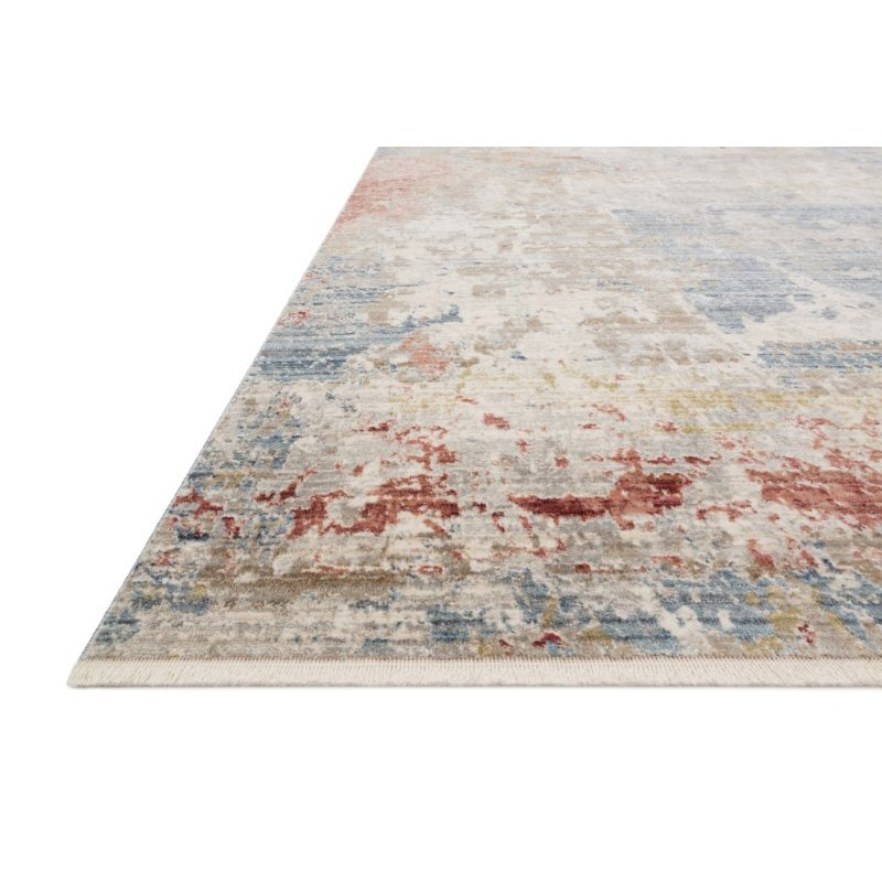 """Loloi Claire CLE-07 Traditional Power Loomed 5' 3"""" x 7' 9"""" Rectangle Rug in Grey and Multi (CLAECLE-07GYML5379)"""