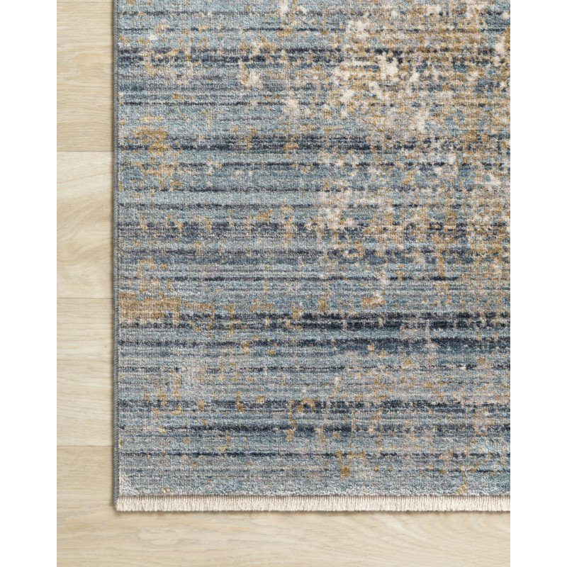 """Loloi Claire CLE-08 Traditional Power Loomed 7' 10"""" x 10' 2"""" Rectangle Rug in Neutral and Sea (CLAECLE-08NESU7AA2)"""